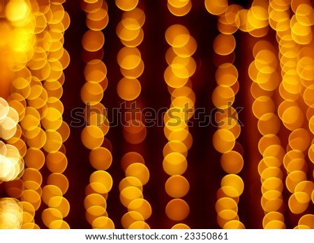 Gold spots bokeh background - stock photo