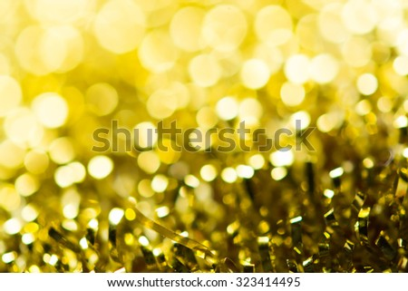 Gold spring or summer, Christmas Glittering background.Holiday abstract texture