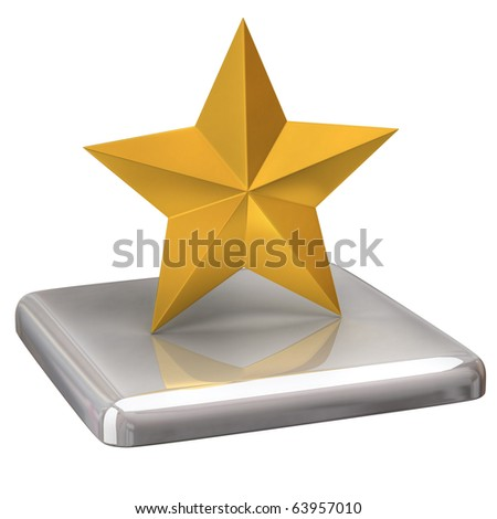 Gold star - stock photo