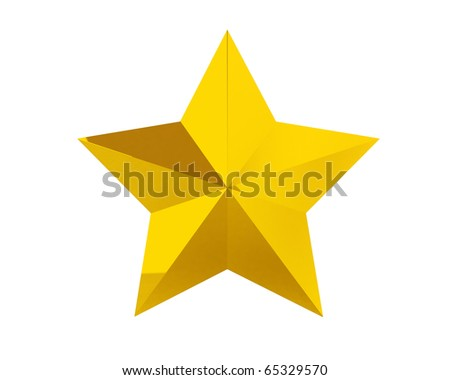 gold star award - stock photo