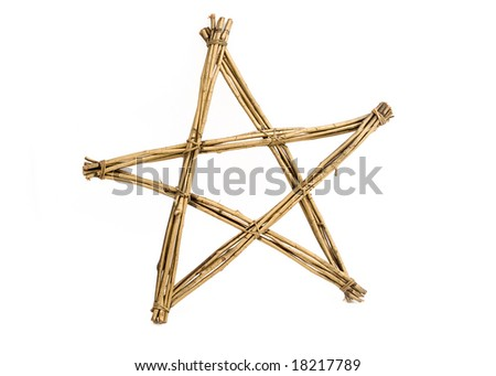 Gold star made from twigs