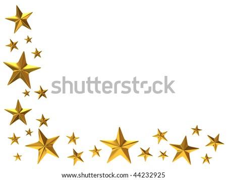 gold stars - stock photo