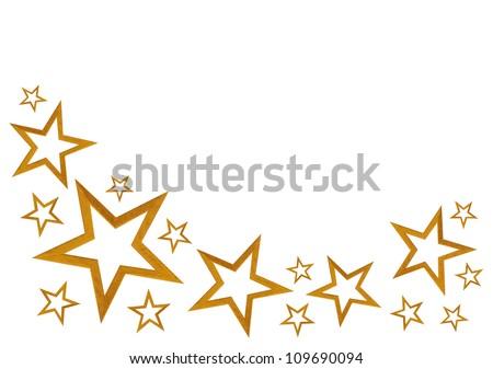 Gold Stars Isolated On White Background Stock Photo ... - photo #47