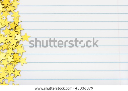 Gold Stars Making Border On Lined Photo 45336379 Shutterstock – Lined Border Paper