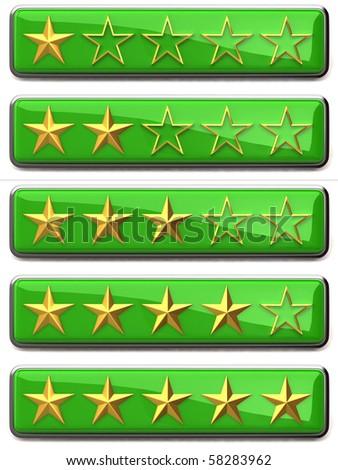 Gold stars ratings - stock photo
