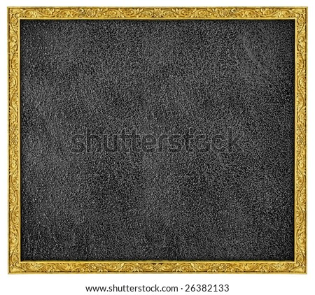 gold stone frame with silver stone