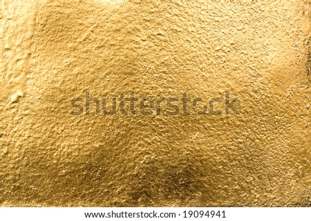 Gold surface useful for background. - stock photo