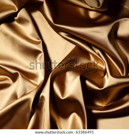 gold textile background - stock photo