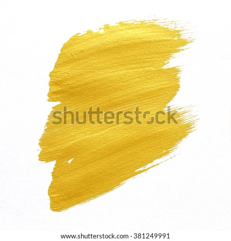 gold textured painting on white background