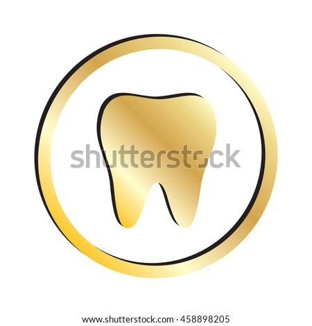 Gold Tooth Icon.  Raster Version