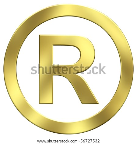 Gold trademark symbol - stock photo