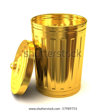 Gold Trash Can Stock Illustration 58111018 Shutterstock