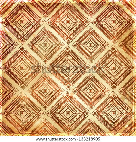 Gold unique ethnic seamless pattern for your business - stock photo