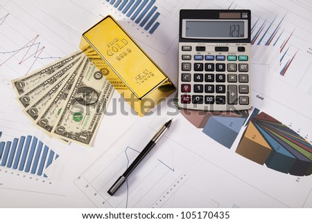 Gold value - stock photo