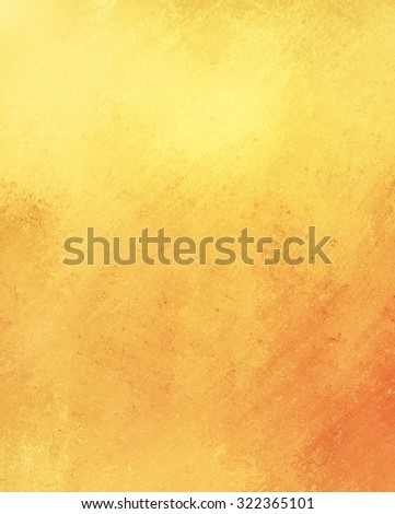 gold vintage background, old yellow and orange colors, textured - stock photo