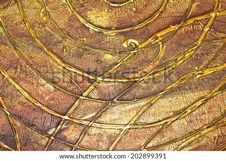 Gold wallpaper background texture. Element of design. - stock photo