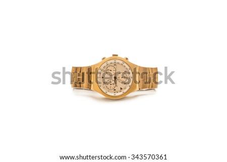 Gold watch. - stock photo