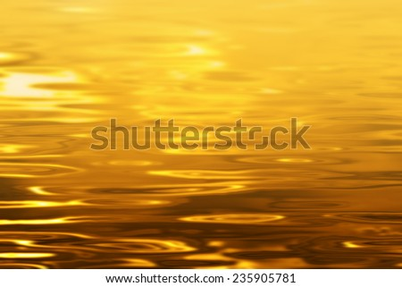 Gold water texture - stock photo
