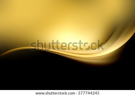 Gold Wave Design Background Light Effect