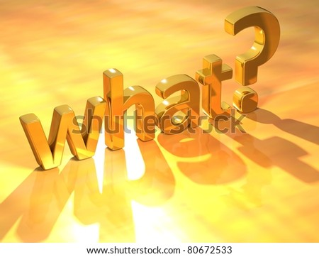Gold what text - stock photo