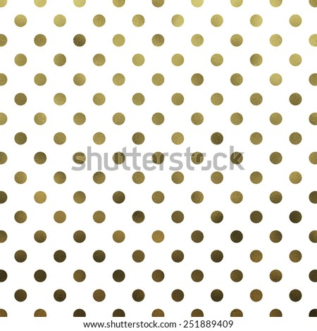 Gold White Polka Dot Pattern Swiss Dots Texture Digital Paper Background - stock photo