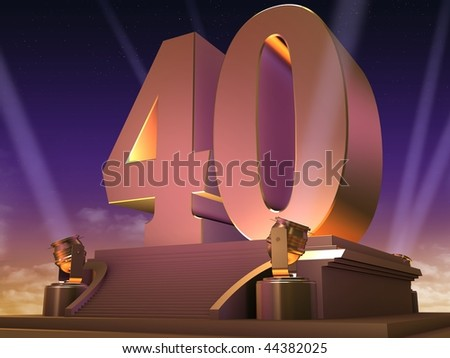 golden 40 - stock photo