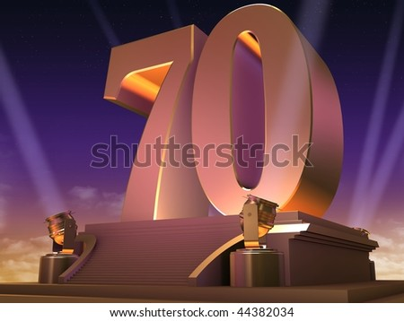 golden 70 - stock photo