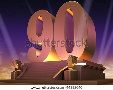 golden 90 - stock photo