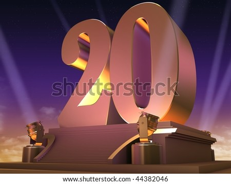 golden 20 - stock photo