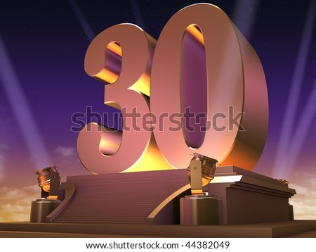 golden 30 - stock photo