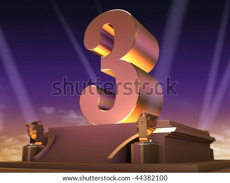 golden 3 - stock photo