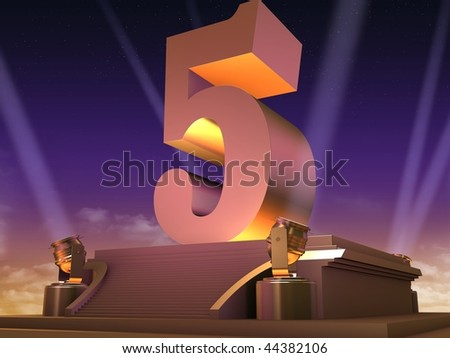 golden 5 - stock photo