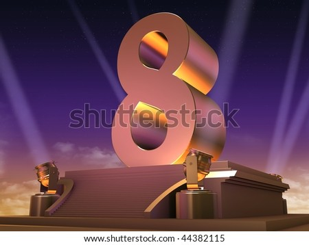 golden 8 - stock photo