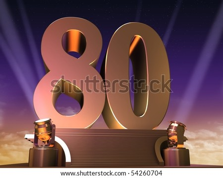 golden 80 - stock photo