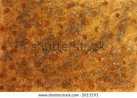 Golden abstract background. Different bright colors and glitter. - stock photo