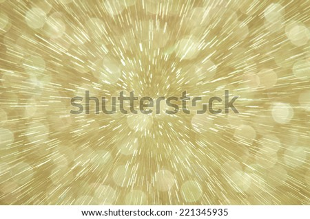 golden abstract explosion with defocused lights background - stock photo