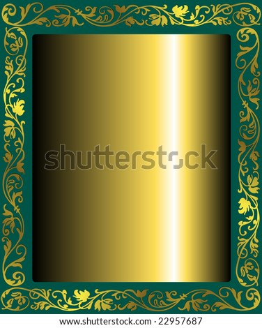 Golden abstract frame