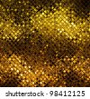 Golden abstract mosaic background - stock photo