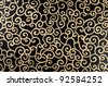 Golden abstract seamless arabesque  on black background. - stock photo