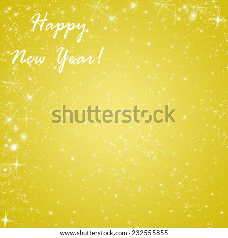 Golden abstract winter holidays background/greeting card