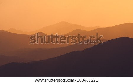 golden afternoon in the mountains