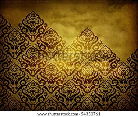 Golden Alhambra - stock photo