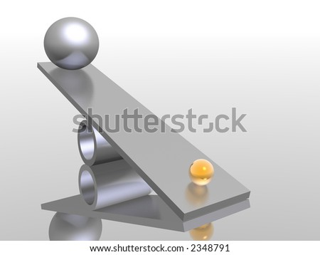 golden and silver balls - stock photo
