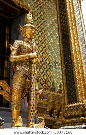 Golden Angel Sculpture, Thailand