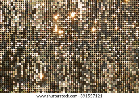 Golden background mosaic with light spots - stock photo