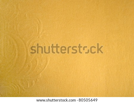 golden background with a pattern - stock photo