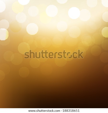 Golden Background With Bokeh And Blur  - stock photo