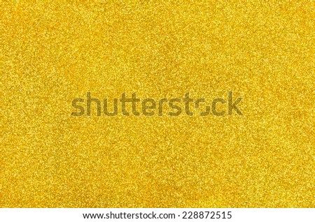 Golden background with glitter - stock photo