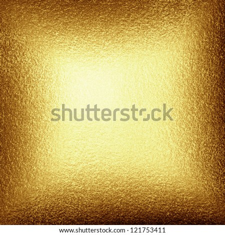 Golden background with some reflected light and highlights - stock photo