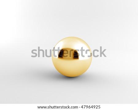 golden ball - stock photo